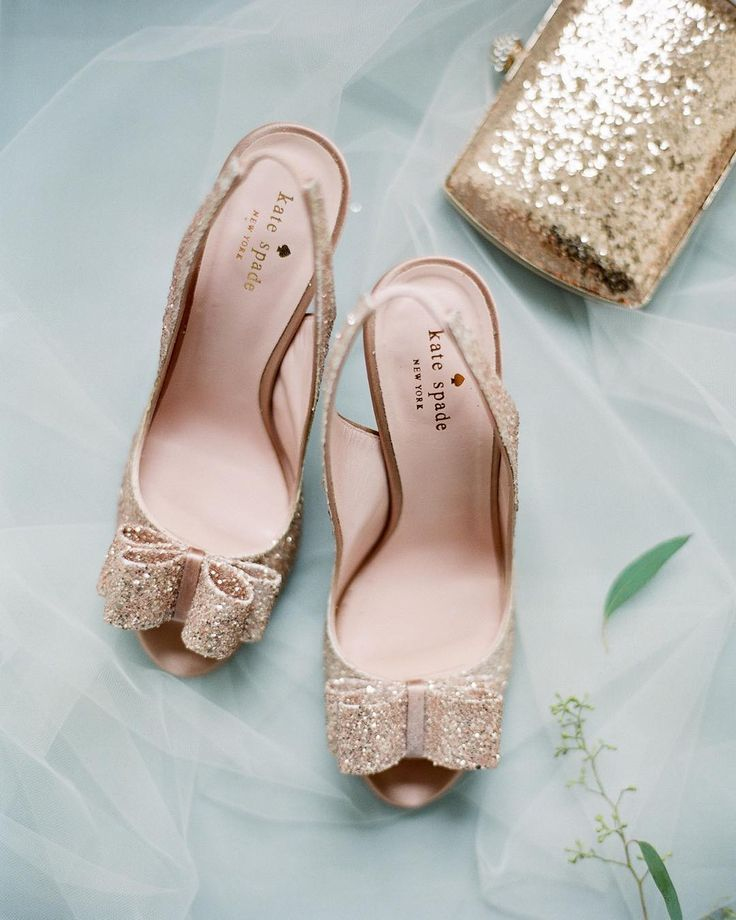 These rose gold Kate Spade shoes are adorable! I want them for my wedding!