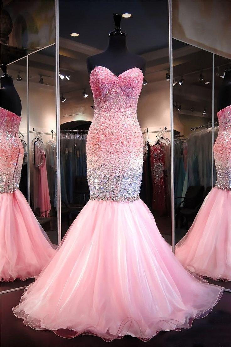 Mejores 104 imágenes de Long pink prom dress en Pinterest   Vestidos ...