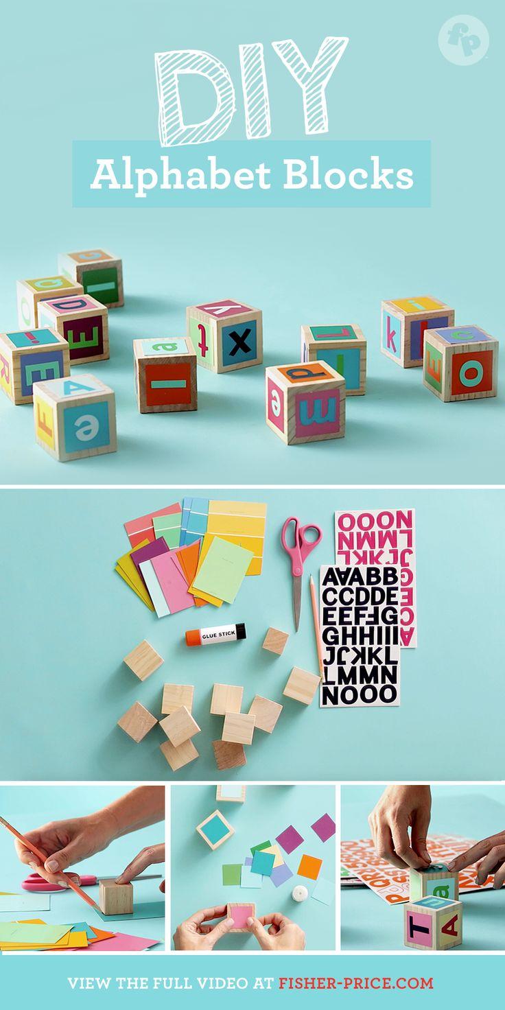 DIY alphabet blocks for preschoolers are as easy as A, B, C!
