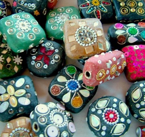 New in - large Kashmiri beads make fab pendant and accent beads