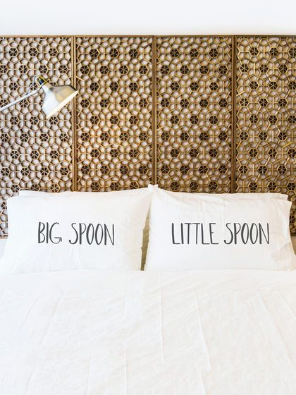 Big Spoon Little Spoon Pillowcases (Set of 2) by OneBellaCasa at Gilt