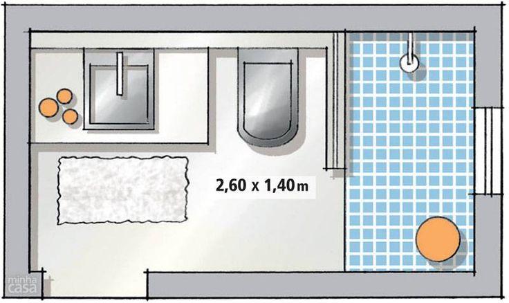 Por 10 x R$ 339, montamos um banheiro chique e contemporâneo: cimento queimado e louças pretas são as estrelas deste ambiente de 3,65 m² - só não há espaço para a mesmice