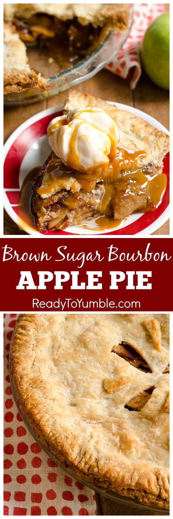 Brown Sugar Bourbon Apple Pie takes your favorite fall flavors and combines them in one juicy dessert!