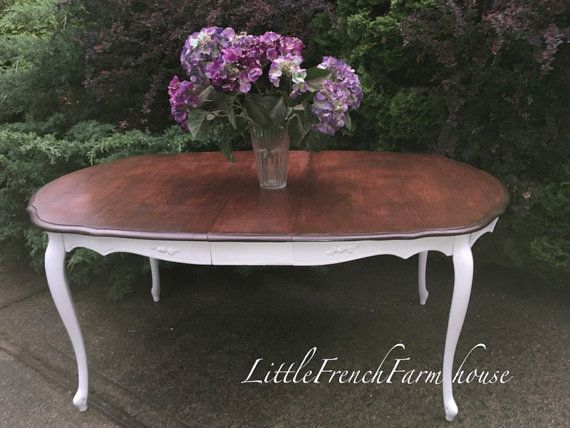 VINTAGE French Provincial Dining Table  by MyLilFrenchFarmhouse