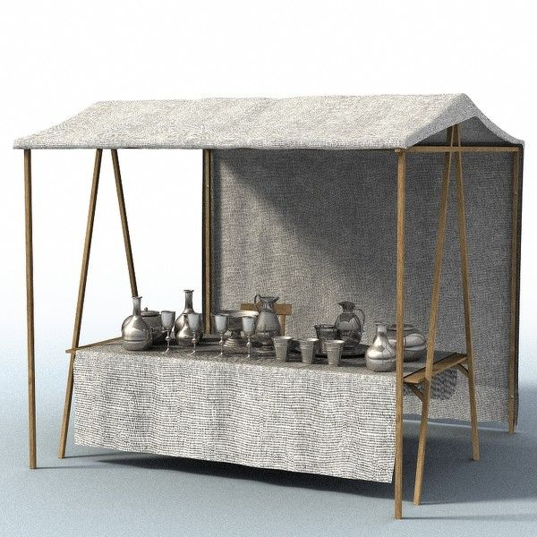 A frame table with roof. Ideal market stall.