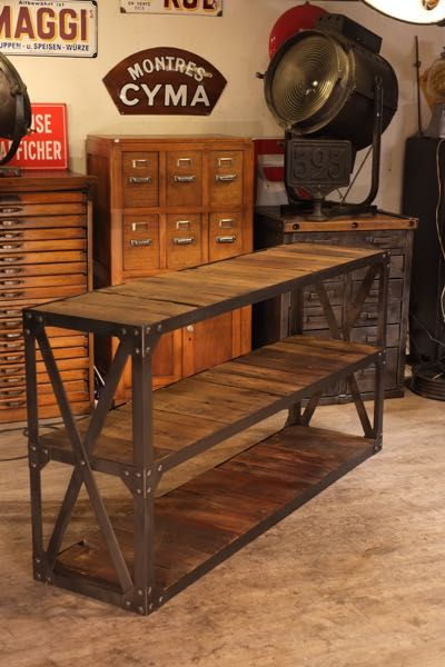 17 best ideas about console industriel on pinterest - Table console ancienne ...