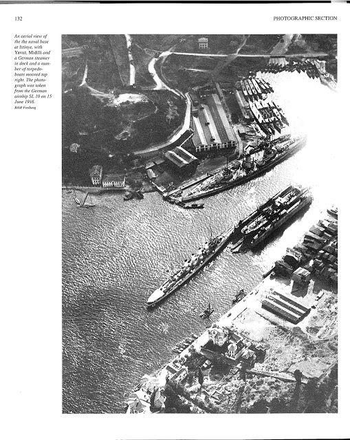 15.Haz.1916 İstinye Deniz Üssünün bir Alman Zeplini tarafından havadan çekilmiş…