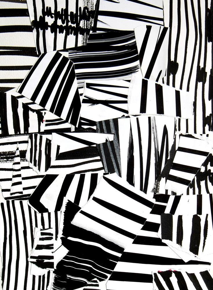 "Artist: Laurent Koller; Paper Collage ""Kollage 32"""