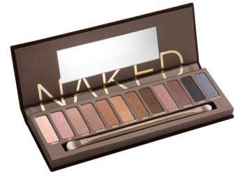 Urban Decay Naked Palette. Loaded with 12 bronze-hued eyeshadows in an insane range of textures including matte, satin, shimmer and sparkle, the Naked Palette by Urban Decay proves that neutral is anything but boring.