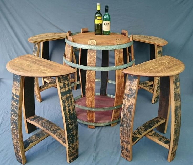 Wine barrel table and stool set reduced from £550 + post to £350 + : wine barrel table and stools - islam-shia.org