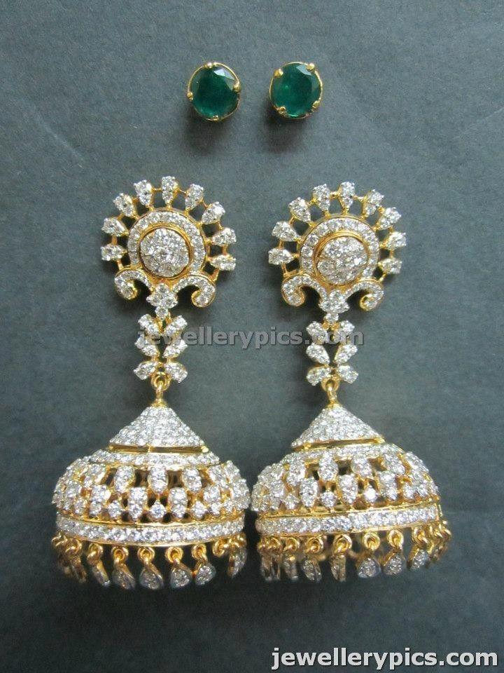 Beautiful Uncut Diamond Jhumka | buttalu designs by Manjula - Latest Jewellery Designs
