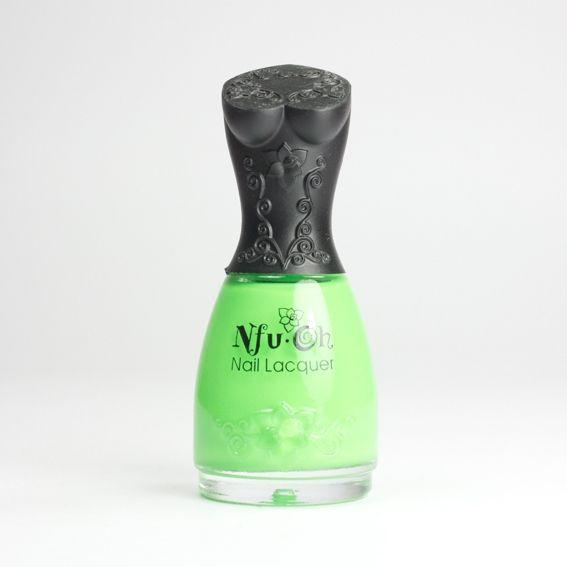 NFU OH Fluorescent FS24, vernis vert pomme néon sur Bec et Ongles €8.50