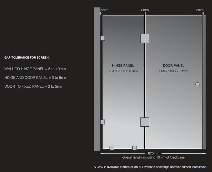 Highgrove Showerscreen Dimensions