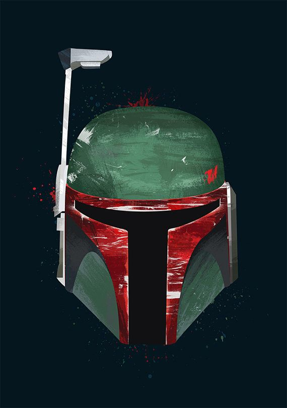 Star Wars Poster Boba fett Science Fiction by CiaranMonaghan