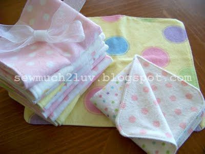 flannel baby wipes tutorial