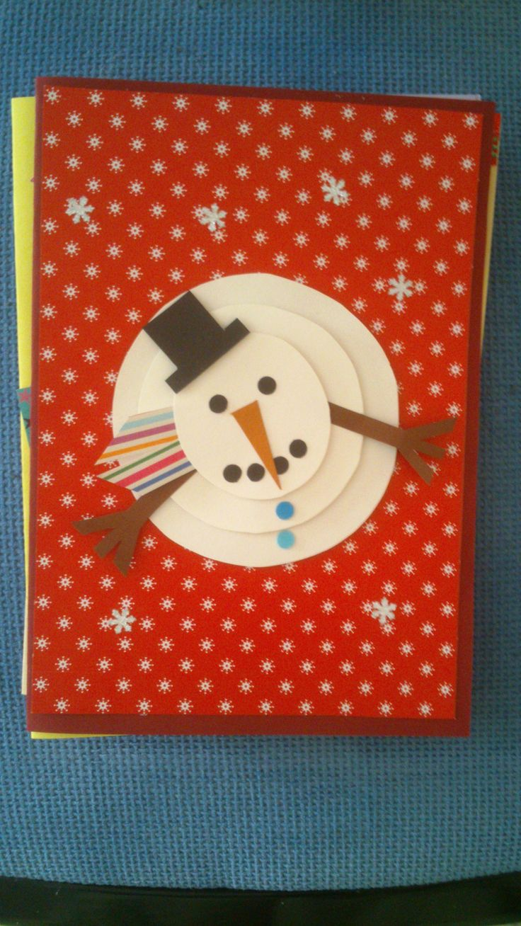 #navidad #felicitación #muñeco #tarjeta #scrap #relieve