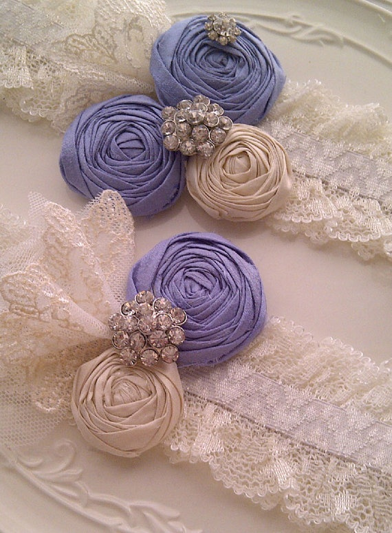 periwinkle blue and ivory