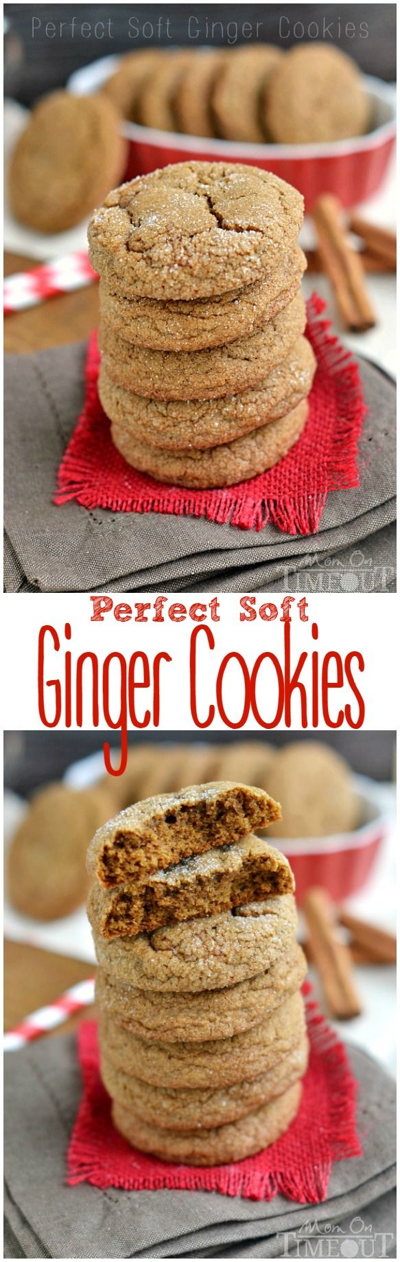 With plenty of spice and warmth, these Perfect Soft Ginger Cookies are just what your holiday season has been waiting for! | MomOnTimeout.com | #dessert #recipe #cookie #spon