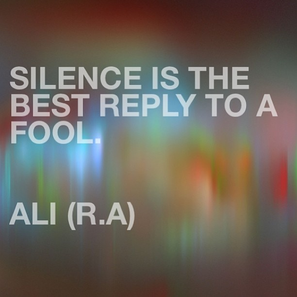 Sayings of the 4th Khalifa Ali Radhi Allahu Anha... its hard, because sometimes we just want to smack the truth into them....