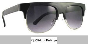 BMOC Flat Bridge Sunglasses - 167 Black