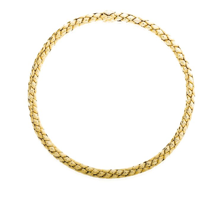 CHIMENTO Stretch Classic yellow gold necklace.