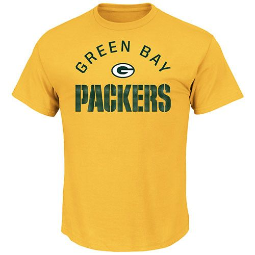 Green Bay Packers For All Time Yellow & Gold T-Shirt