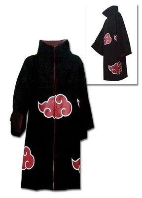 Naruto Shippuden Anime Akatsuki Cloak Adult Coat