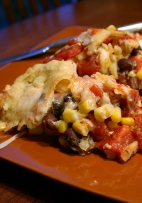 Crockpot Mexican Lasagna Stack Up - fixed 11/16/2012...makes a great meal-in-one...