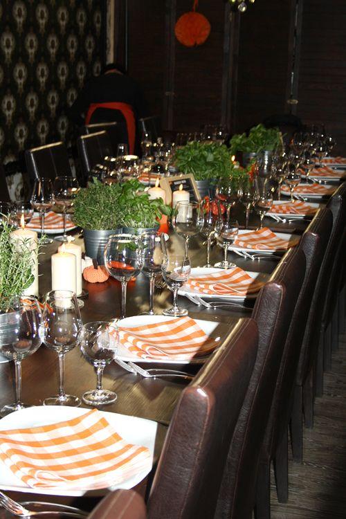 Tischdekoration vom Quorn Blggerevent in der Kochbox Berlin
