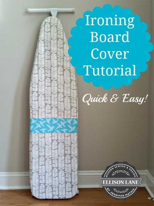 This ironing board cover can be sewn in about half an hour.