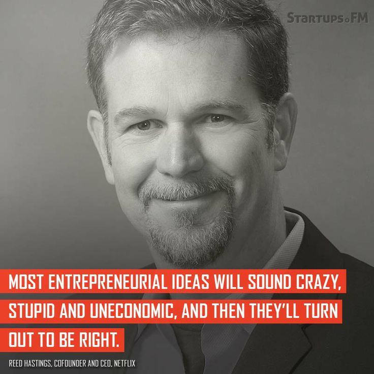 Reed Hastings - Cofounder of @Netflix has some awesome words to remember! #quotes #startups