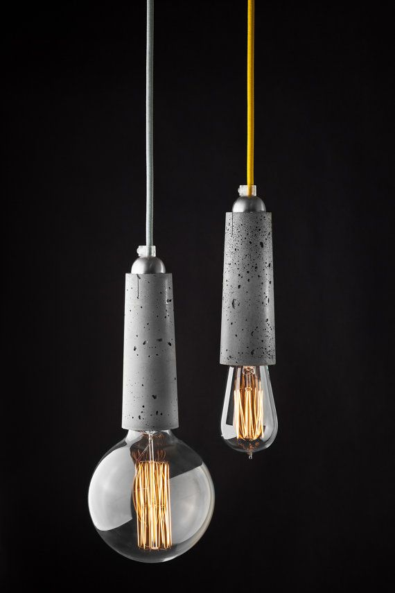 Falcon concrete pendant lamp by ConcreteLamps on Etsy