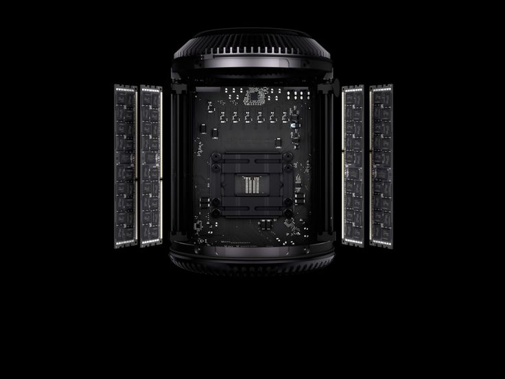 Every component in the new Mac Pro is optimized for performance. That includes a four-channel DDR3 memory controller running at 1866MHz. It delivers up to 60GB/s of memory bandwidth, which means you can fly through even the most compute-intensive tasks in no time. And since it's ECC memory, your render job, video export, or simulation won't be stopped by transient memory errors. Apple - Mac Pro
