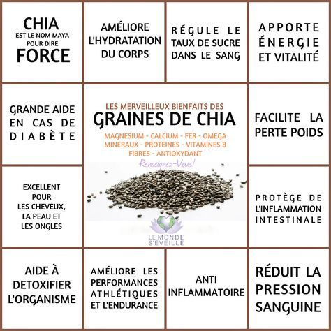 Les Bienfaits de la Graine de Chia   GRAINE DE CHIA Le Monde s'Eveille Grâce à Nous Tous ♥