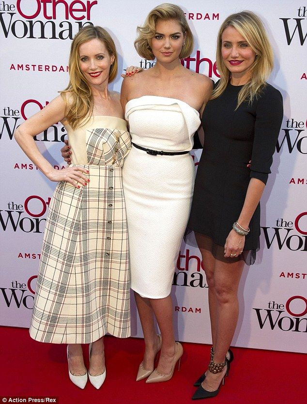 Dressed to impress: Leslie, Kate and Cameron looked incredible in their outfits at the premiere of The Other Woman in Holland on Tuesday nig...