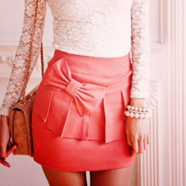 Fashion, Lace Tops, Style, Clothing, Outfit, Bows Skirts, Pink Bows, Lace Bows, Lace Shirts
