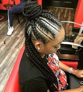 Half up half down feeder braids