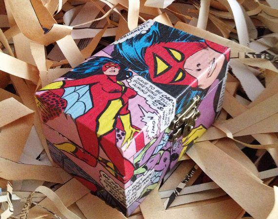 Comic Box SpiderWoman por artsandcrash en Etsy