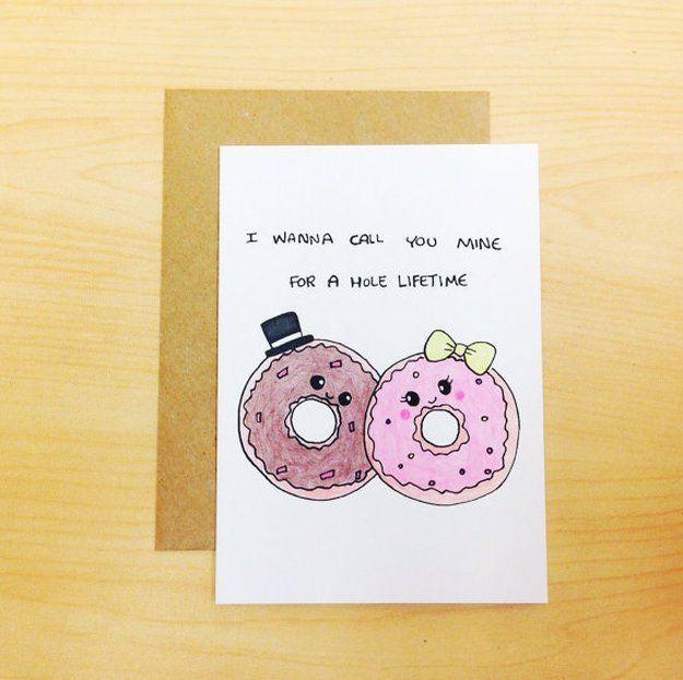 Днем рождения, открытка с пончиком
