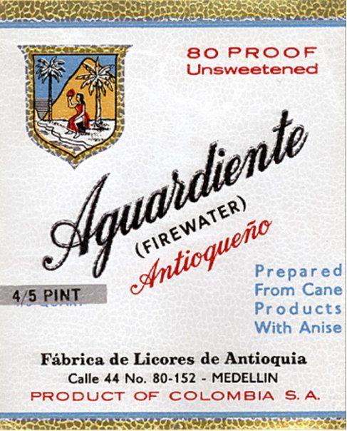 Aguardiente antioqueño late 1970s Colombia