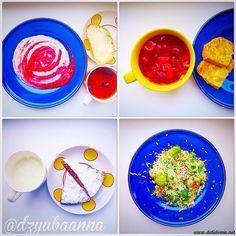 Комплекс 4 Завтрак: манная каша с малиной + чай с шиповником Обед: красный борщ со свеклой и фасолью + гренки Полдник: морковно-банановый кекс + кисломолочный/молочный напиток Ужин: рис с фрикадельками, брюссельской капустой и зеленым горошком