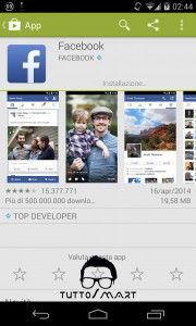 Facebook aggiorna l'applicazione Android http://wp.me/p4yHeO-rG #Facebook #Tuttosmart #Android #Facebook8 #TuttosmartEu #News #tecnologia #app