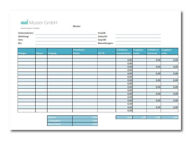 Kassenbuch Vorlage als Excel & PDF kostenlos downloaden