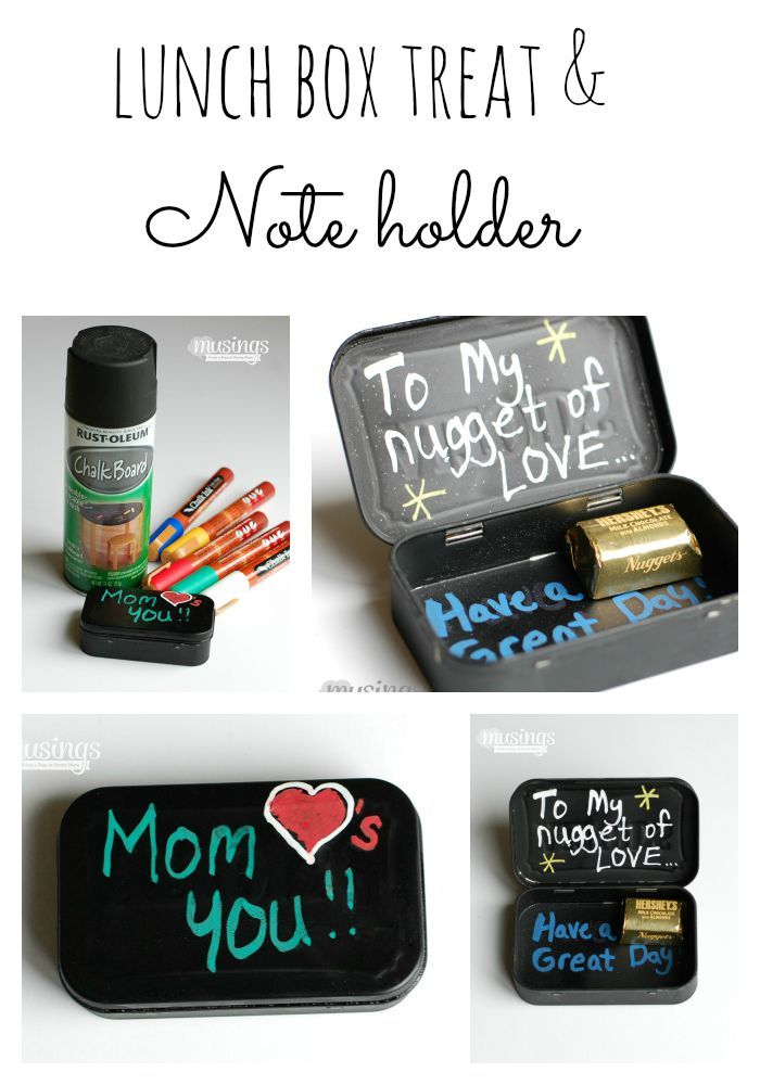 DIY Lunch Box Treat & Note Holder From An Altoid Tin