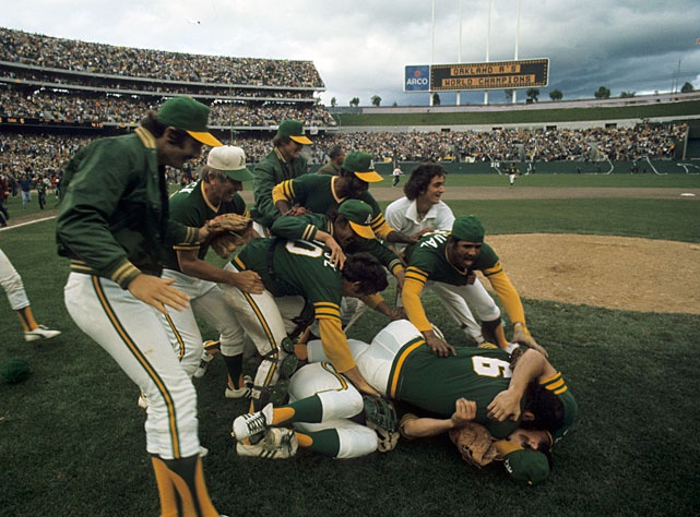 Oakland A's win the 1974 World Series