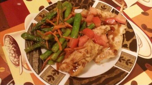 Balsamic chicken n veggies