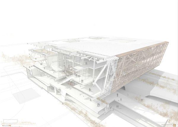 Infografía 3D constructiva by Leo Tabares de Nava, via Behance