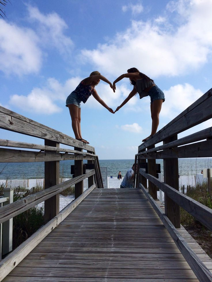 Beach best friend picture! Knowing my best friend we would fall trying to do this!!!