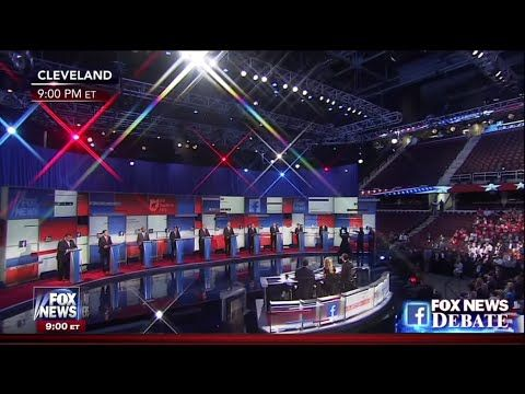 First Republican Primary Debate - Main Stage - August 6 2015 on Fox News - YouTube