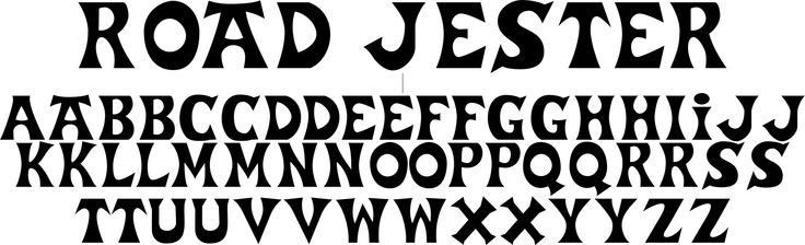 road jester font free download